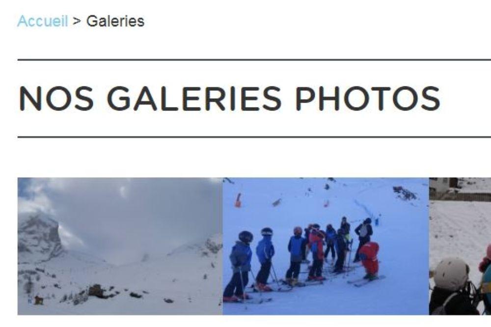 Les galeries photos