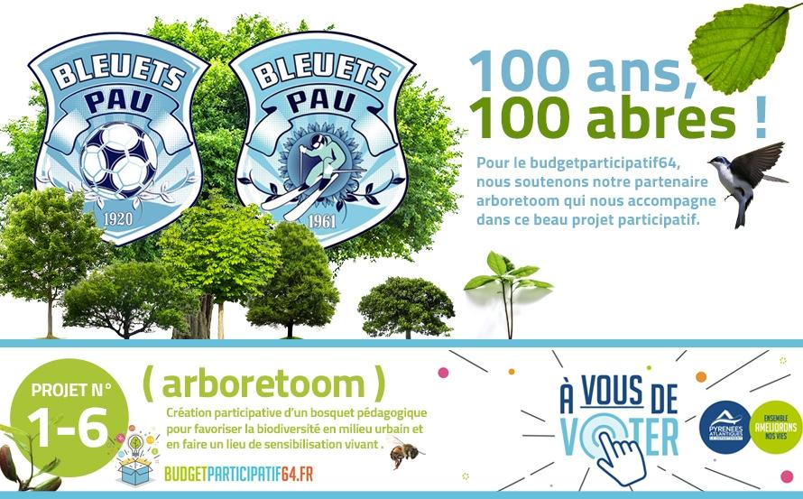 Les bleuets soutiennent le projet Arboretum